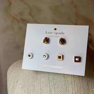 Kate Spade ♠️ earrings NWT set of 3